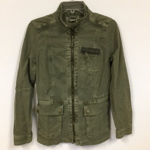 Lucky Brand Military Style Jacket Olive Green